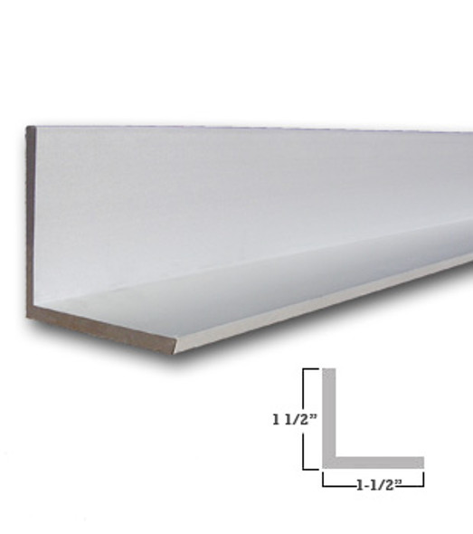 "1-1/2"" x 1-1/2"" x 1/8"" Aluminum Angle Anodized Satin Silver 47-7/8"""