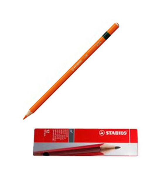 Stabilo All 8054 Orange Glass Marking Pencil