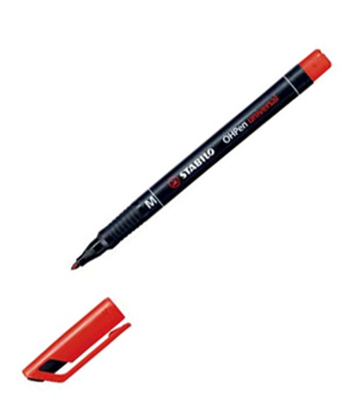 Stabilo Red Felt Glass Marking Pen Medium Tip