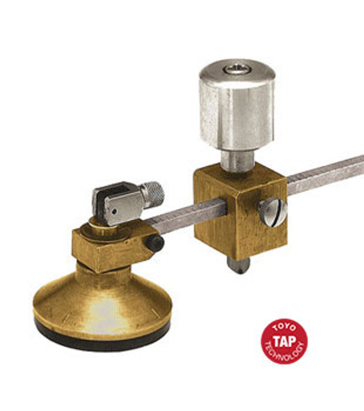 """Toyo 48"""" Self Oiling Glass Circle Cutter - Tap Wheel For Thick Glass"""