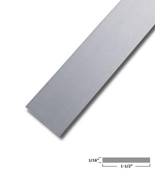"1-1/2"" X 1/16"" Aluminum Flat Bar Satin Anodized Finish with Tape 95"""