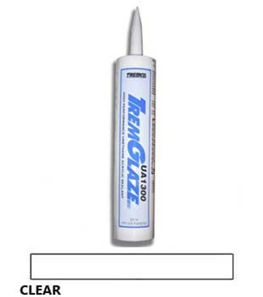 TremGlaze UA1300 Urethane Acrylic Sealant Clear 10.3 oz. Cartridge