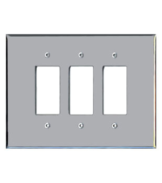 Triple Decora Acrylic Mirror Switch Cover Plate