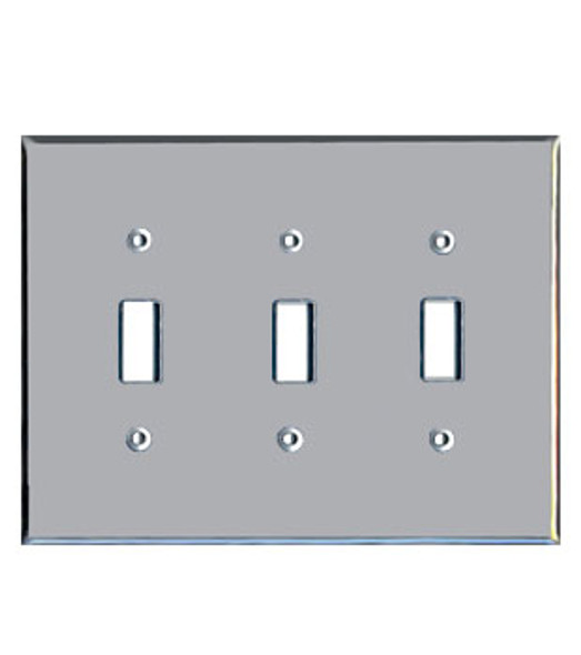 Triple Toggle Acrylic Mirror Switch Cover Plate