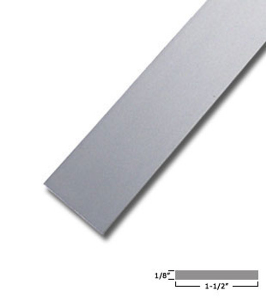 "1-1/2"" X 1/8"" Aluminum Flat Bar Satin Anodized Finish 95"" Long"