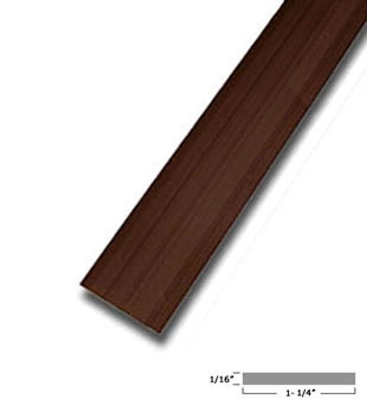"1-1/4 X 1/16"" Aluminum Flat Bar Bronze Finish with Tape 95"" Long"