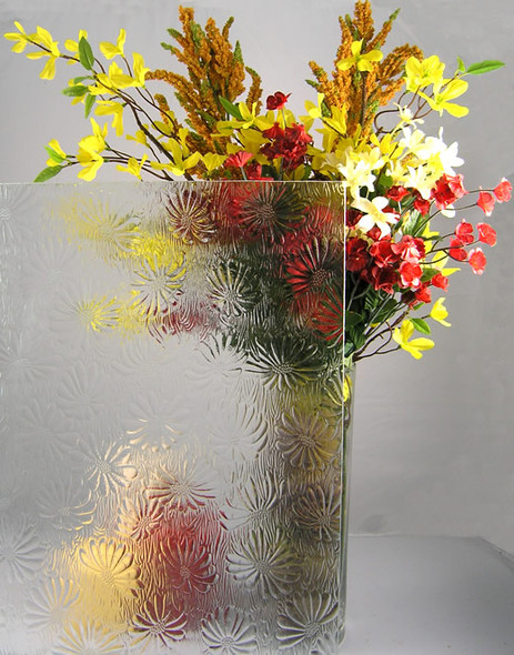 """WG28 Floral Glass 4"""" x 4"""" Sample"""