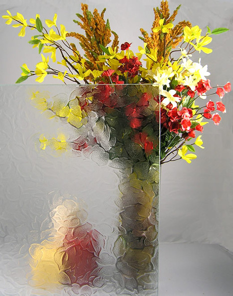 """WG39 Floral Glass 4"""" x 4"""" Sample"""