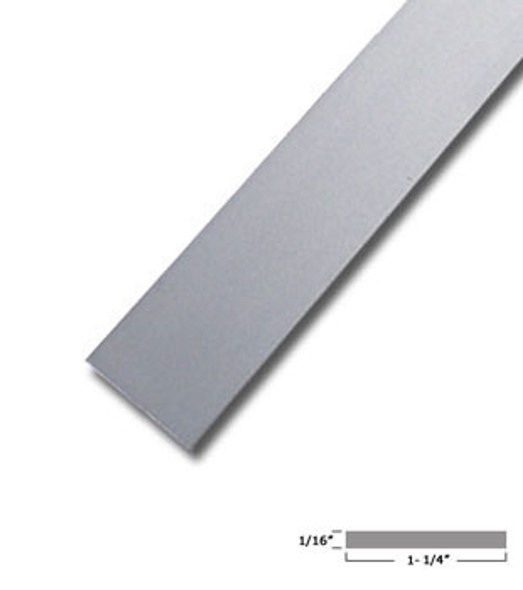 "1-1/4"" X 1/16"" Aluminum Flat Bar Satin Anodized Finish 95"" Long"