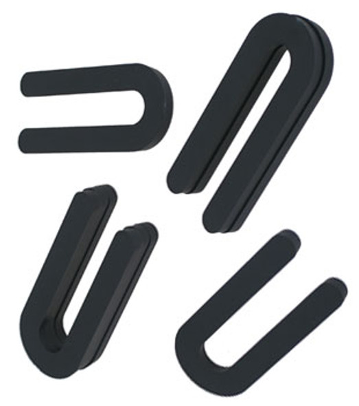"1/4"" x 3"" Black Plastic Horseshoe Shims - 100 Pack"