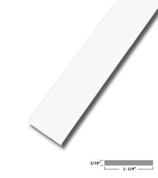 """1-1/4"""" X 1/16"""" Aluminum Flat Bar White Finish with Tape 47-7/8"""""""