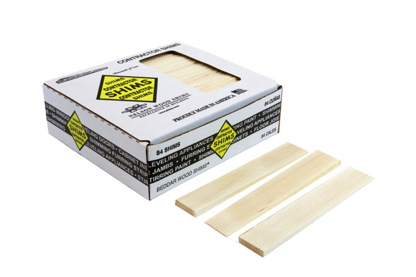 "8"" 84 Count Contractor Shims - 5 Boxes"