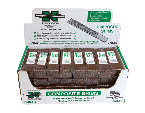 "8"" Lined Composite Shims - Case of 384 Shims"