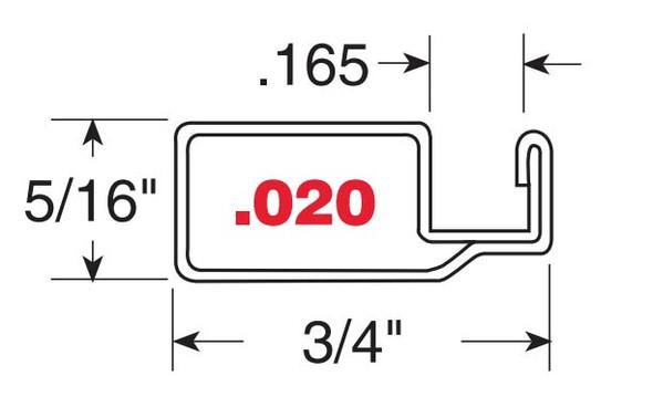 "5/16"" Mill Finish Aluminum Screen Frame .020 - 10 Pack 72"""
