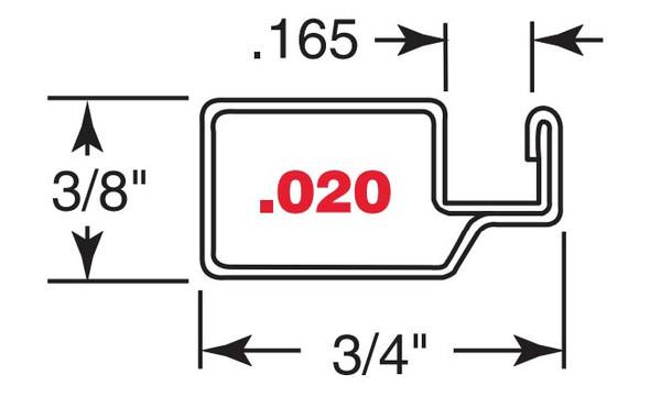 """3/8"""" White Finish Aluminum Screen Frame .020 - 10 Pack 72"""""""