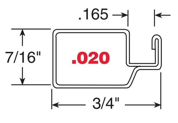 """7/16"""" White Finish Aluminum Screen Frame .020 - 10 Pack 72"""""""