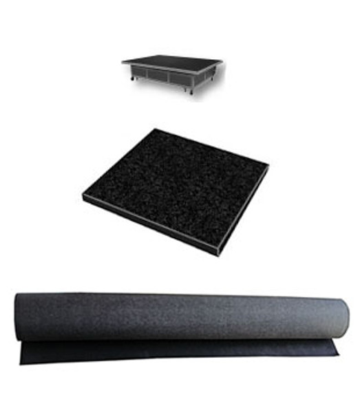 6' X 8' Premium Replacement Carpet For Glass Cutting Tables - Black