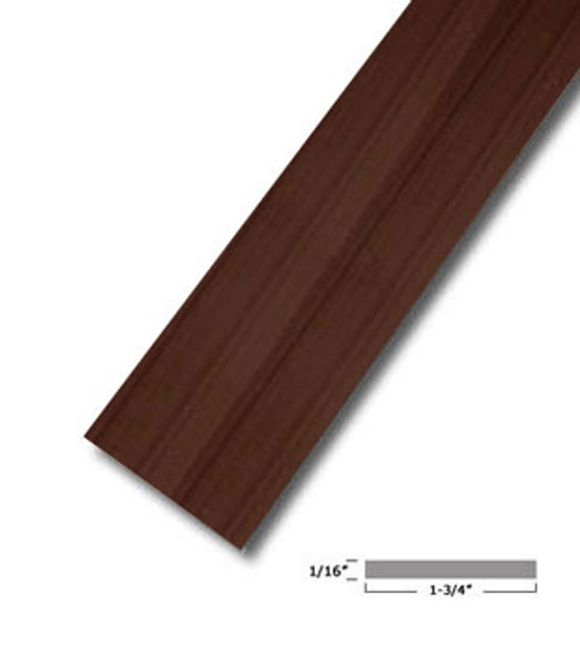 "1-3/4"" X 1/16"" Aluminum Flat Bar Bronze Finish with Tape 47-7/8"""