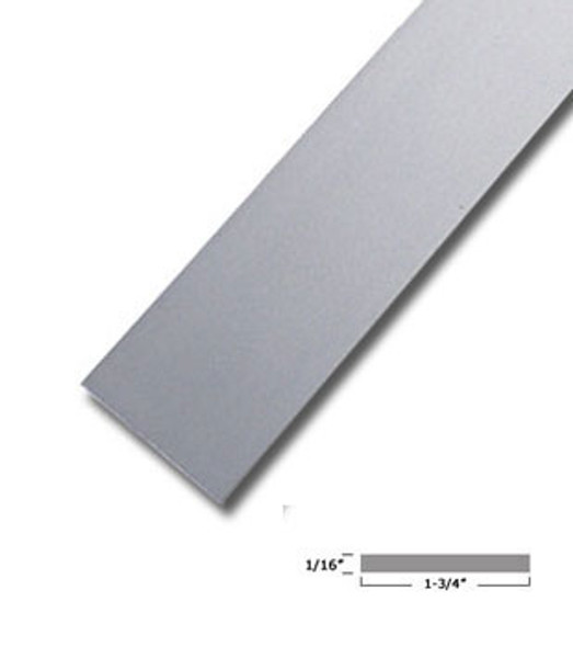 "1-3/4"" X 1/16"" Aluminum Flat Bar Satin Anodized Finish 95"" Long"