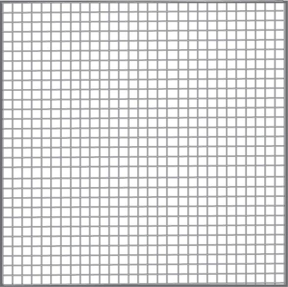 "36"" Gray Fiberglass Mesh (18 X 16)"
