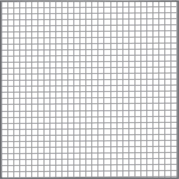 "48"" Gray Fiberglass Mesh (18 X 16)"