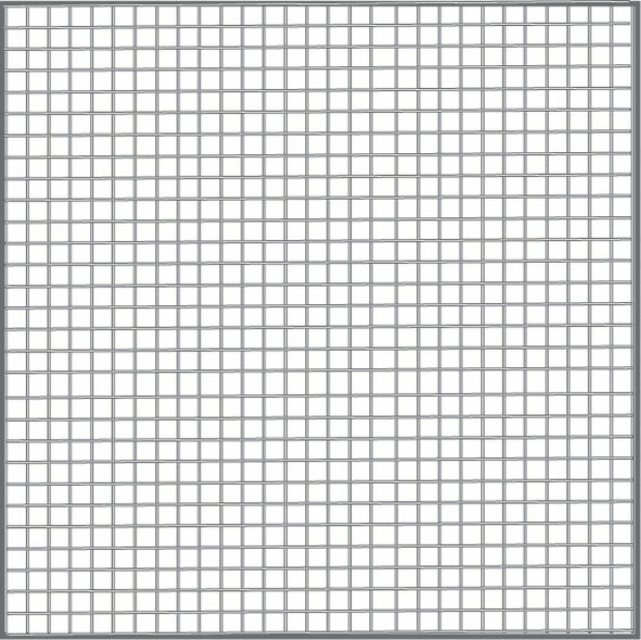 "60"" Gray Fiberglass Mesh (18 X 16)"