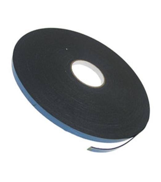 """1/16"""" X 1/2"""" Black Double Sided Foam 2 Way Glazing Tape"""