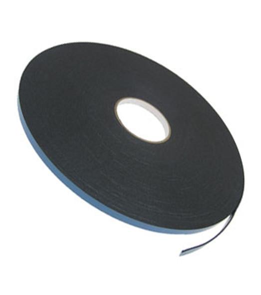 """1/16"""" X 3/8"""" Black Double Sided Foam 2 Way Glazing Tape"""