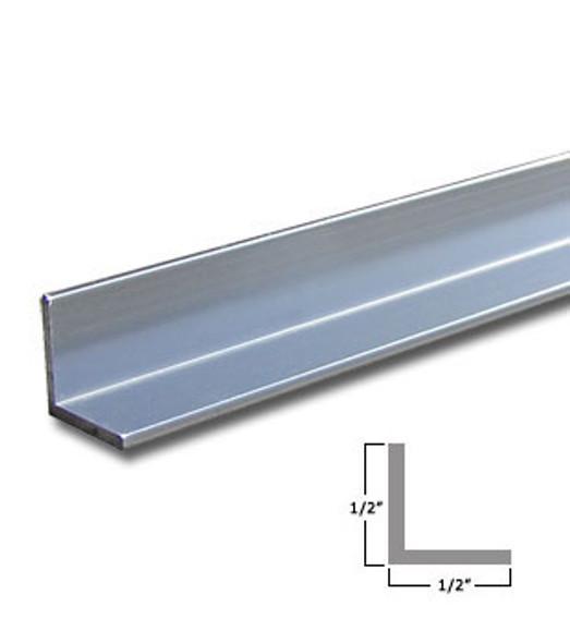 "1/2""x 1/2"" x 3/64"" Aluminum Angle Anodized Satin Silver Finish 47-7/8"""