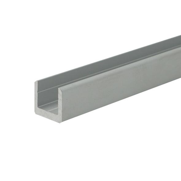 "1/4"" Aluminum U-Channel Satin Silver Anodized  47-7/8"" Long"