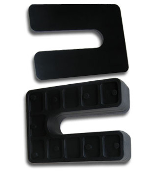 "1/4"" X 4"" Black Jumbo Plastic Horseshoe Shims- 25 Pack"