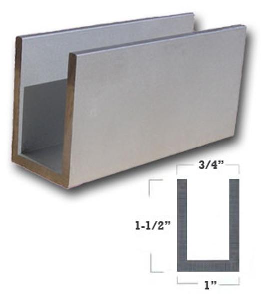 "1/8"" Wall 1"" x 1-1/2"" Aluminum U Channel Satin Anodized Finish 95"""