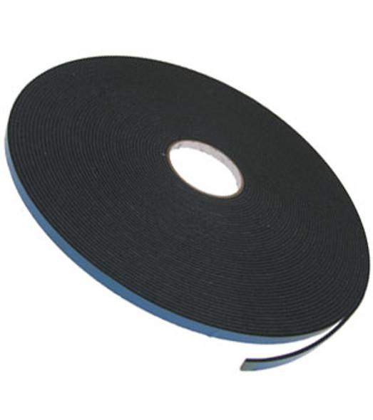 """1/8"""" X 3/8"""" Black Double Sided Foam 2 Way Glazing Tape"""