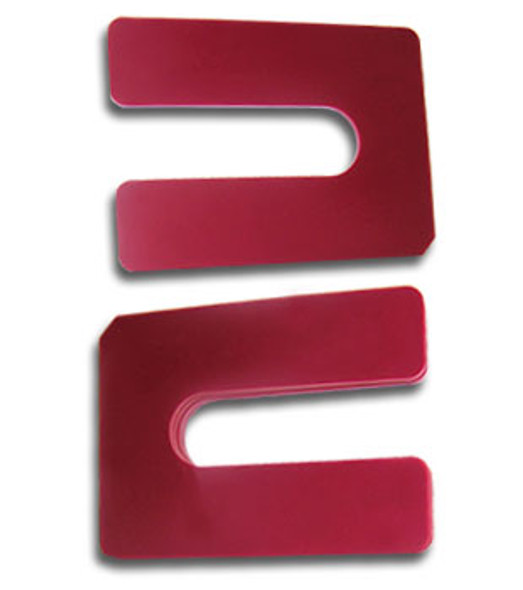 "1/8"" X 4"" Red Jumbo Plastic Horseshoe Shims- 50 Pack"