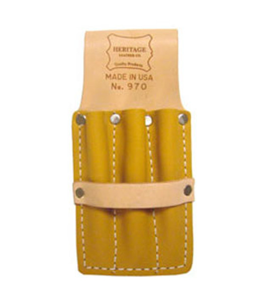 3- Pocket Leather Glazier Cutter and Pencil Pouch