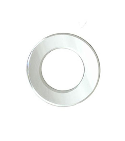"""3-3/4"""" OD. X  2-1/4"""" ID. Acrylic Mirror  Door Knob Trim Ring"""