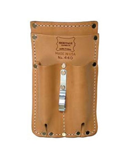 3-Pocket Pocket Pal Leather Russet Tool Pouch