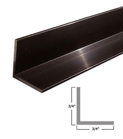 "3/4"" x 3/4"" x 3/64"" Aluminum Angle Anodized Dark Bronze Finish 47-7/8"""