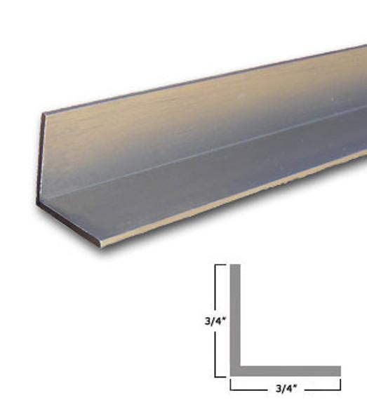 """3/4"""" x 3/4"""" x 3/64"""" Aluminum Angle Brushed Nickel Finish 47-7/8"""""""