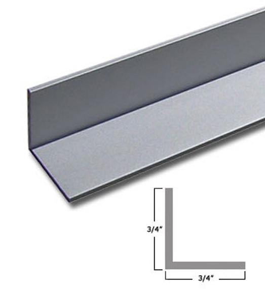 "3/4""x 3/4"" x 3/64"" Aluminum Angle Anodized Satin Silver Finish 47-7/8"""