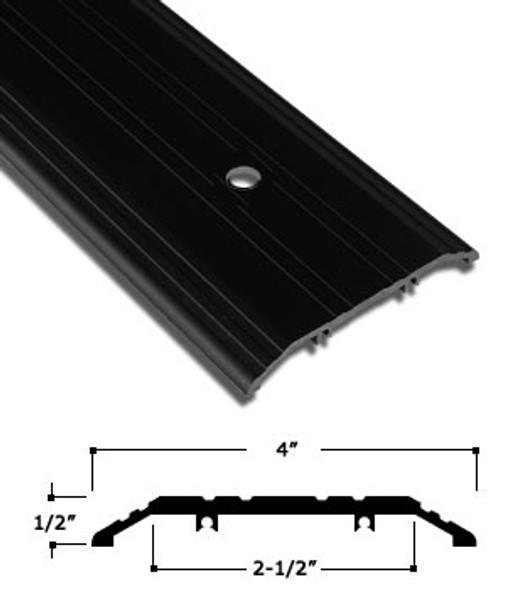 """4"""" x 1/2"""" Bronze Anodized Aluminum Saddle Threshold W/ Pivot Prep. 72"""""""