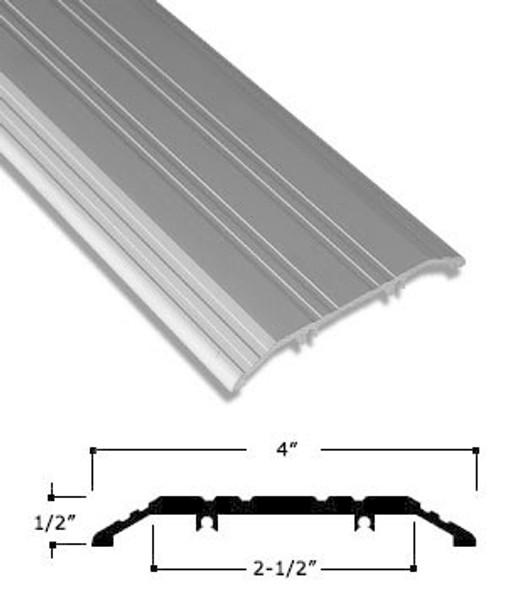 """4"""" x 1/2"""" Clear Anodized Aluminum Saddle Threshold 72"""" Long"""
