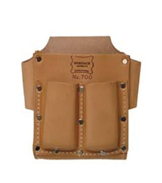 5 - Pocket Leather Box-Shape Tool Pouch