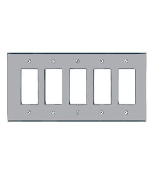 5 Gang Decora Acrylic Mirror Switch Cover Plate
