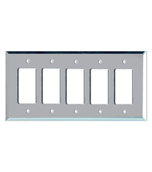5 Gang Decora Glass Mirror Switch Cover Plate