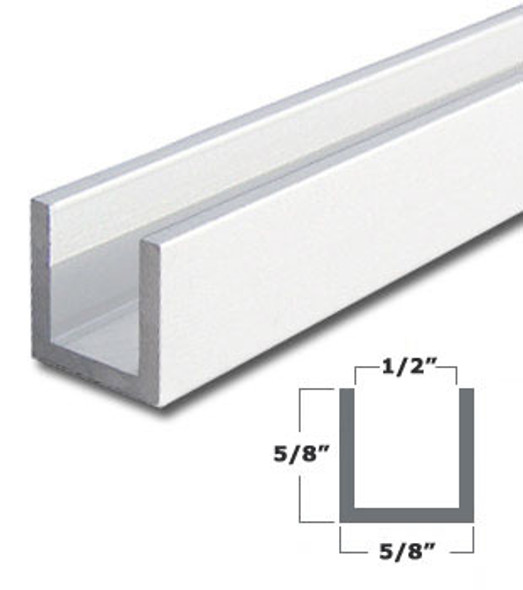 """5/8"""" x 5/8"""" Aluminum Stop Trim With Tape White Finish 95"""" Long"""