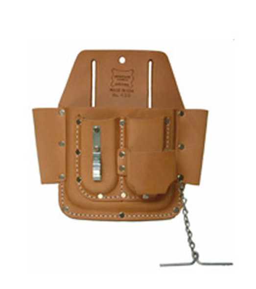 6 - Pocket Professional Leather Tool Pouch
