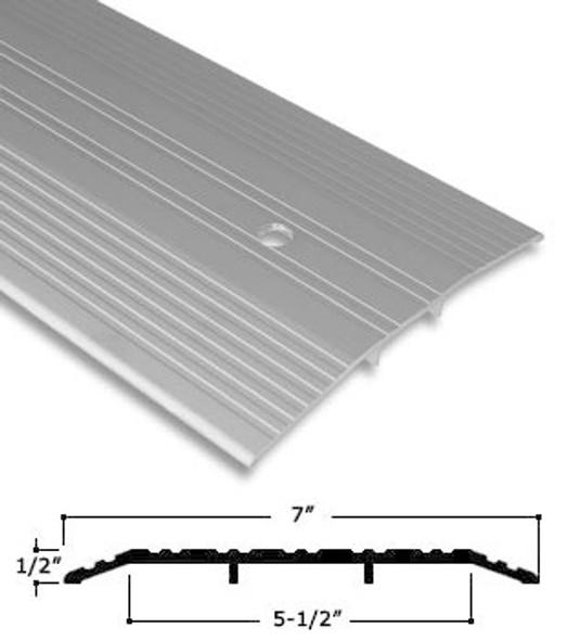 "7"" x 1/2"" Clear Anodized Aluminum Saddle Threshold W/ Pivot Prep. 36"""