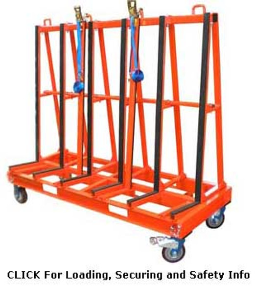 """Abaco One Stop 71"""" x 60"""" Single Sided A-Frame Cart SSA7247"""