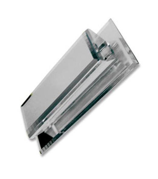 Acrylic Mirror Rectangular Base Pull - Beveled Wedge Rectangular Face